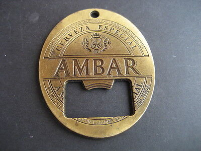 Abrebotellas Cerveza AMBAR. Cervezas La Zaragozana segunda mano  España