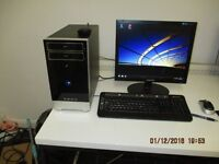 """DESKTOP PC WITH WINDOWS 7 HOME PREMIUM WITH 17"""" MONITOR"""