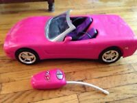 Barbie Remote Control Corvette Vehicle