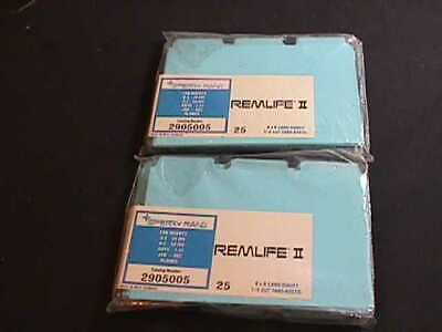 2 Packages Sperry Rand Remlife Ii Vinyl File Box Card Guides With Tab Inserts