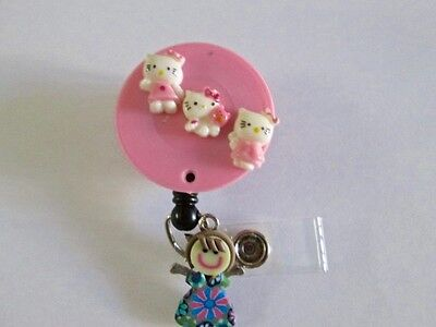 Id Badge Retractable Reel Magnet Or Cliphello Kittymedicalnursepediatricicu