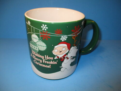 NEW Family Guy Brian Stewie Christmas Coffee Mug  Large 20 Ounce