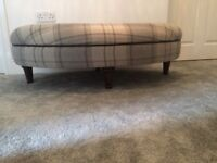 Check oval footstool - almost new