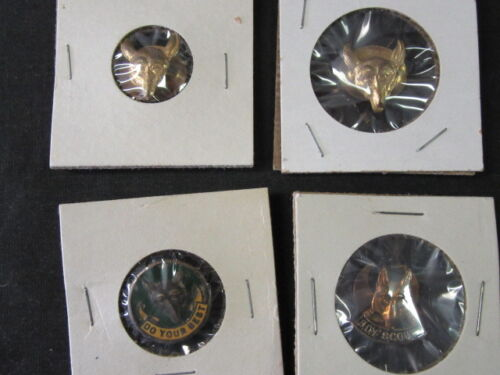 International Boy Scout Pins, Lot of 4, button hold style   j5a