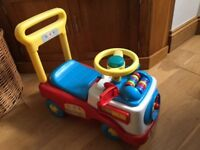 Ride-on baby walker car (trike, push along, toy)