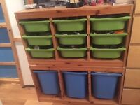 Children's Storage units with trays - great to store Lego and toys