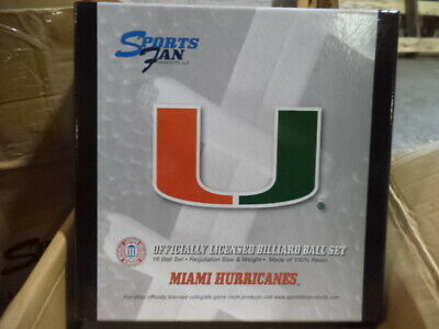 Miami Hurricanes Billiard Ball Set