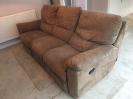 Brown sofas with recliners