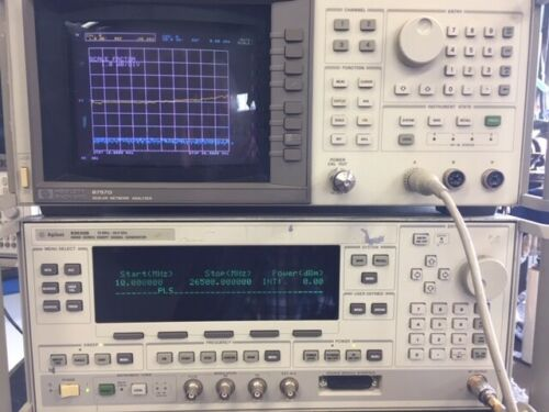 HP scalar system 83630B Sweeper CALIBRATED + 8757D SNA + 85025B 10 MHz-26.5GHz
