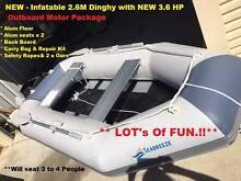 New Inflatable 2.6M Seabreeze Dinghy & 3.6Hp Motor Unwanted Gift Success Cockburn Area Preview