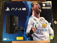 Playstation 4 Pro (1TB) with FIFA 18 - Brand New in Box