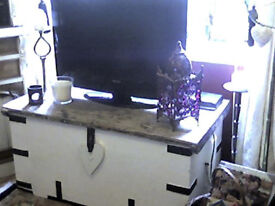 LARGE RUSTIC TRUNK COFFEE TABLE /TV UNIT /TV STAND