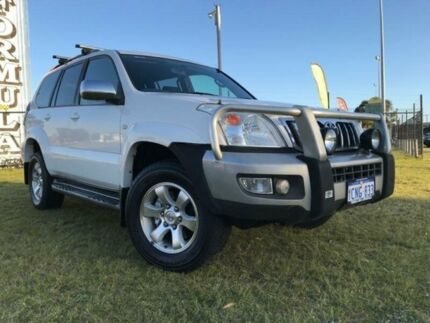 2007 Toyota Landcruiser Prado GRJ120R GXL White 5 Speed Automatic Wagon