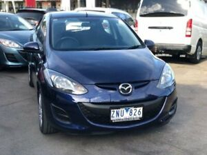 2012 Mazda 2 DE MY13 Neo Blue 4 Speed Automatic Hatchback Burwood Whitehorse Area Preview