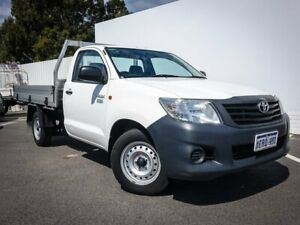 2015 Toyota Hilux TGN16R MY14 Workmate 4x2 White 4 Speed Automatic Cab Chassis Maddington Gosnells Area Preview