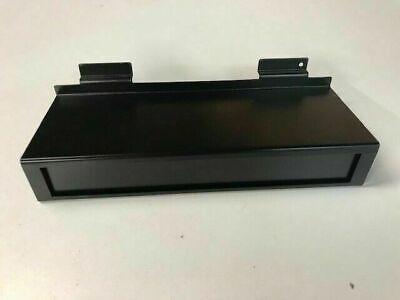 Metal Slat Wall Shoe Shelf Wbuilt In Sign Holder 15 Pack11w X 4d X 2h