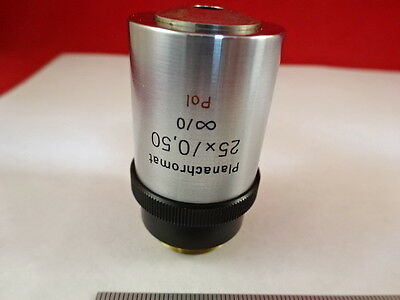 Microscope Part Zeiss Polarizer Objective 25x Pol Infinity Optics As Is X6-b-10