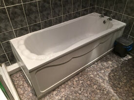 Bath, sink, shower - used