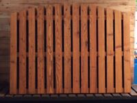 Arched Pailing Fencing Panels
