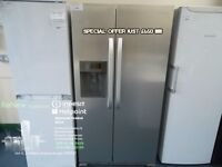 SPECIAL OFFER EX-DISPLAY STAINLESS HOTPOINT AMERICAN STYLE FRIDGE FREEZER W/ICE WATER REF: 11622