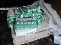 K Rend 25Kg Silicone K1 White Scraped Render