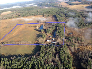 40 Acre Farm with Log Home For Sale by Owner