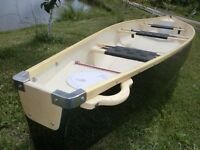 Brand New 3 seater Flat Back Canoe Made in EU, 2 year warranty Kayak Boat