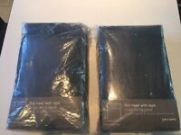 New John Lewis Black string curtain/ Panels (x 2 )
