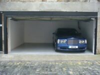 Edinburgh City Center Lock-Up Garage parking spaces available now for rent on Thistle Street
