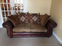 Brown Leather Sofa Pair