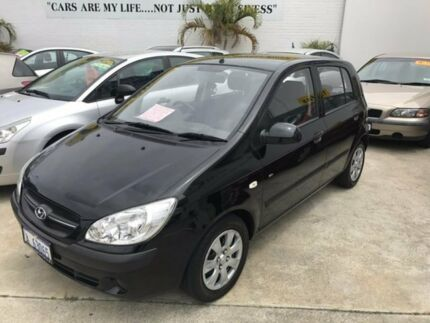 2010 Hyundai Getz TB MY09 SX Black 4 Speed Automatic Hatchback St James Victoria Park Area Preview