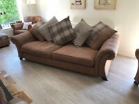 3 and 2 Seater Sofa with Foot-stall