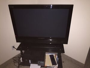 plasma tv for sale along with table
