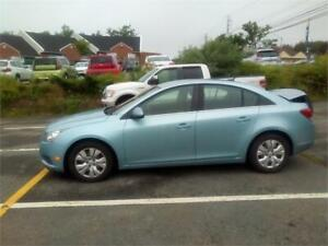 2012 Chevrolet Cruze LT Turbo w/1SA AUTO LOADED ONLY $5471.
