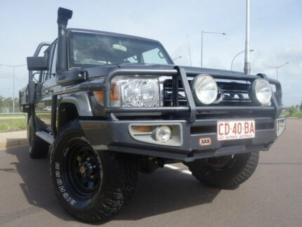 LC Military GXL 4.5L T Diesel Manual Dual Cab Chassis Gray Palmerston Area Preview