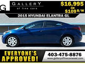 2015 Hyundai Elantra GL $109 bi-weekly APPLY NOW DRIVE NOW