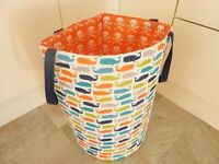 Laundry Basket from John Lewis Bright & Colourful Wipe Clean/ Kids Storage