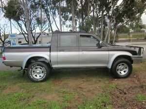 2003 Mitsubishi Triton MK GLS (4x4) Black & Silver 5 Speed Manual 4x4 Dual Cab Utility Mount Lawley Stirling Area Preview