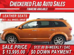 2011 DODGE JOURNEY R/T ALL WHEEL DRIVE-HEATED LEATHER SEATS
