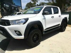 2016 Toyota Hilux GUN125R (4x4) White 6 Speed Manual Dual Cab Utility Tuncurry Great Lakes Area Preview