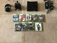 X Box 360 S, 250GB, in excellent condition, with re-chargeable controllers , headphones and games.