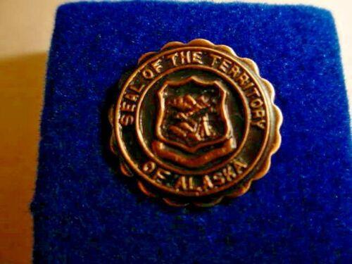 Vintage Territory of Alaska Seal Lapel/Hat Pin  s27
