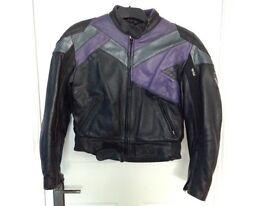 Womens leather Frank Thomas motorbike jacket