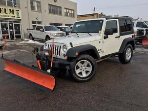 2009 Jeep Wrangler **SNOW PLOW** ONLY 70KM!!