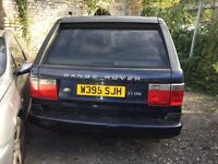 2000 Land Rover RangeRover diesel automatic, being sold as spares or repair, will not start, not sur