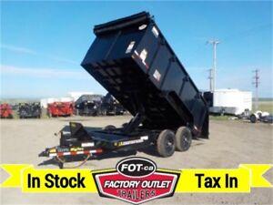 14K - 7 x 14 Dump Trailer >>---> Ramp Kit, Tarp & 4' Solid Sides