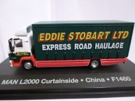 "Oxford Diecast Eddie Stobart MAN L2000 Curtainside ""China"" F1460 - 1:76 Scale"