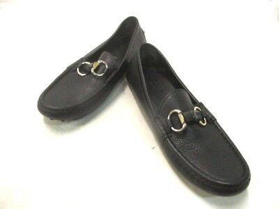 Auth GUCCI Horsebit Black Leather Shoes Men