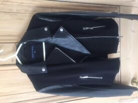 French Connection Black Leather Jacket size 10