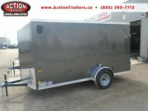 SALE PRICE ONLY - 2017 HAULIN 6X13 ENCLOSED TRAILER -SCREWLESS London Ontario image 1